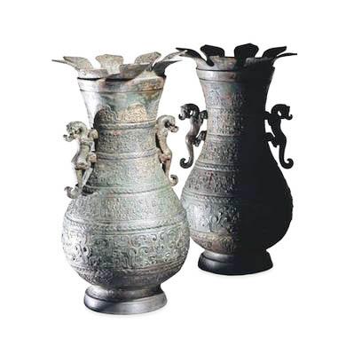 仿青铜浮雕 粘土印第安人